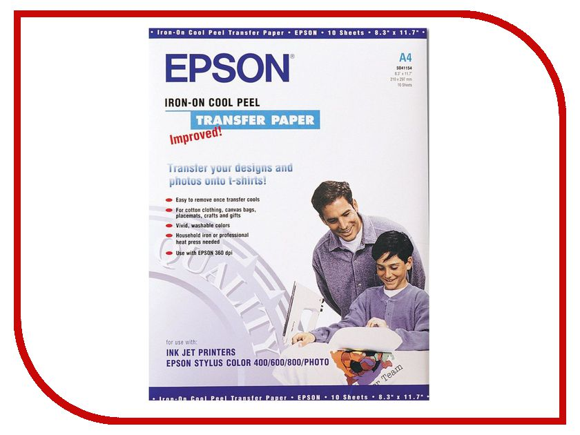 ���������� Epson C13S041154 ��� �������� ����������� �� ����� 124g/m2 A4 10 ������