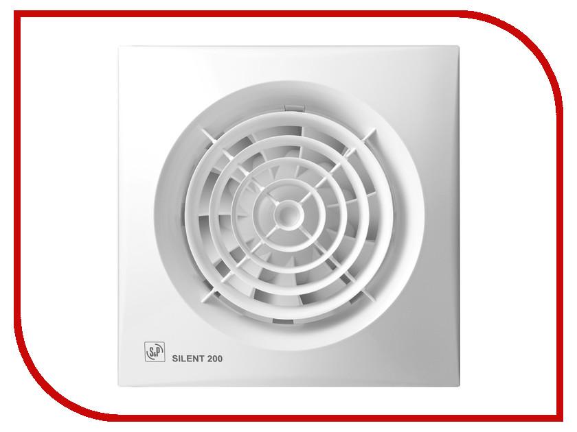 Вытяжной вентилятор Soler & Palau Silent-200 CRZ White