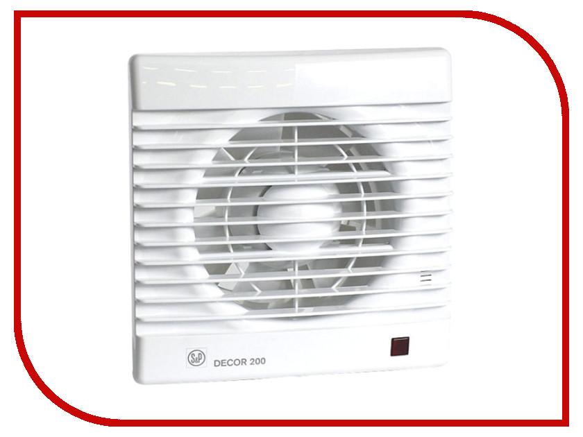 Вытяжной вентилятор Soler & Palau Decor-200 CR White
