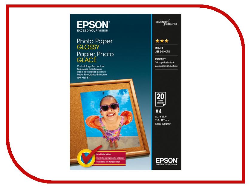 Фотобумага Epson C13S042538 Глянцевая 200g/m2 A4 20 листов бумага iq premium a4 200g m2 250 листов a 169