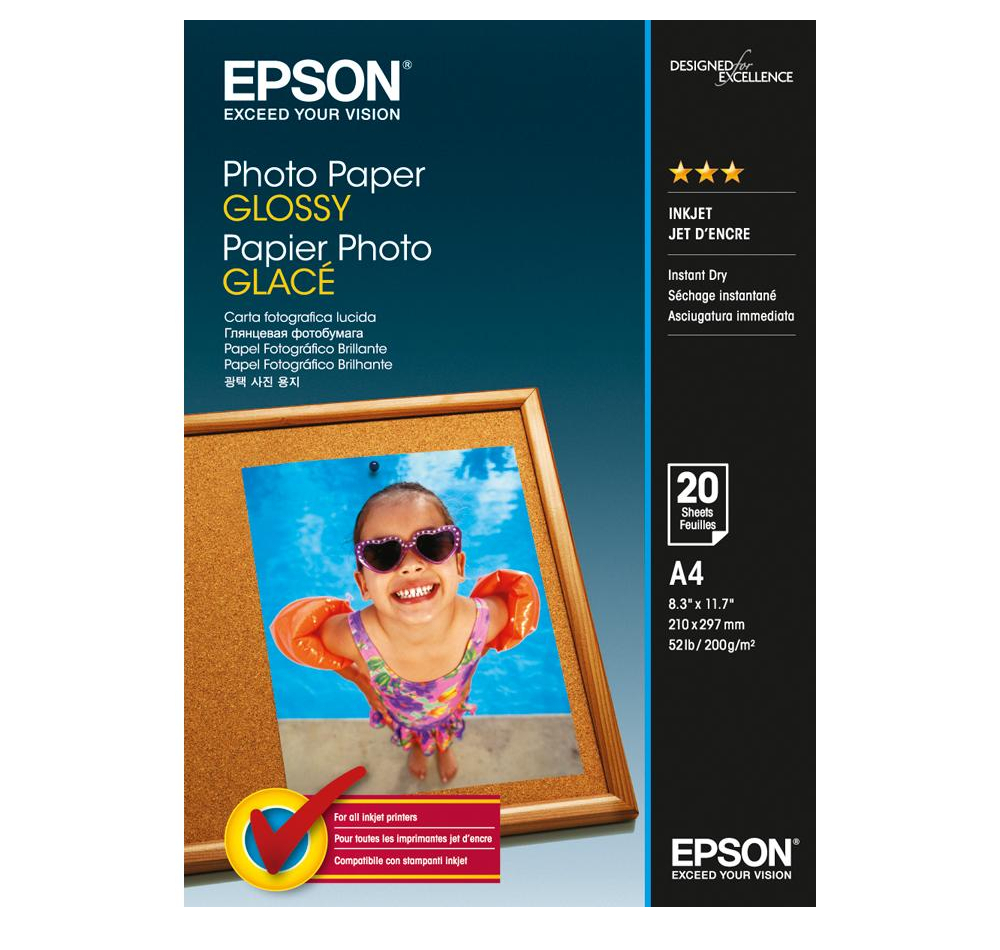 Фотобумага Epson C13S042538 Глянцевая 200g/m2 A4 20 листов фотобумага epson c13s042535 photo paper glossy a3 200g m2 20 листов