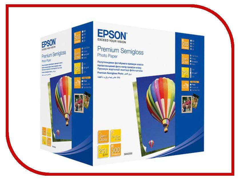 Фотобумага Epson Premium C13S042200 Полуглянцевая 260g/m2 A6 500 листов