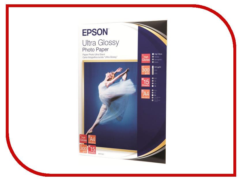 Фотобумага Epson C13S041927 Глянцевая 300g/m2 A4 15 листов