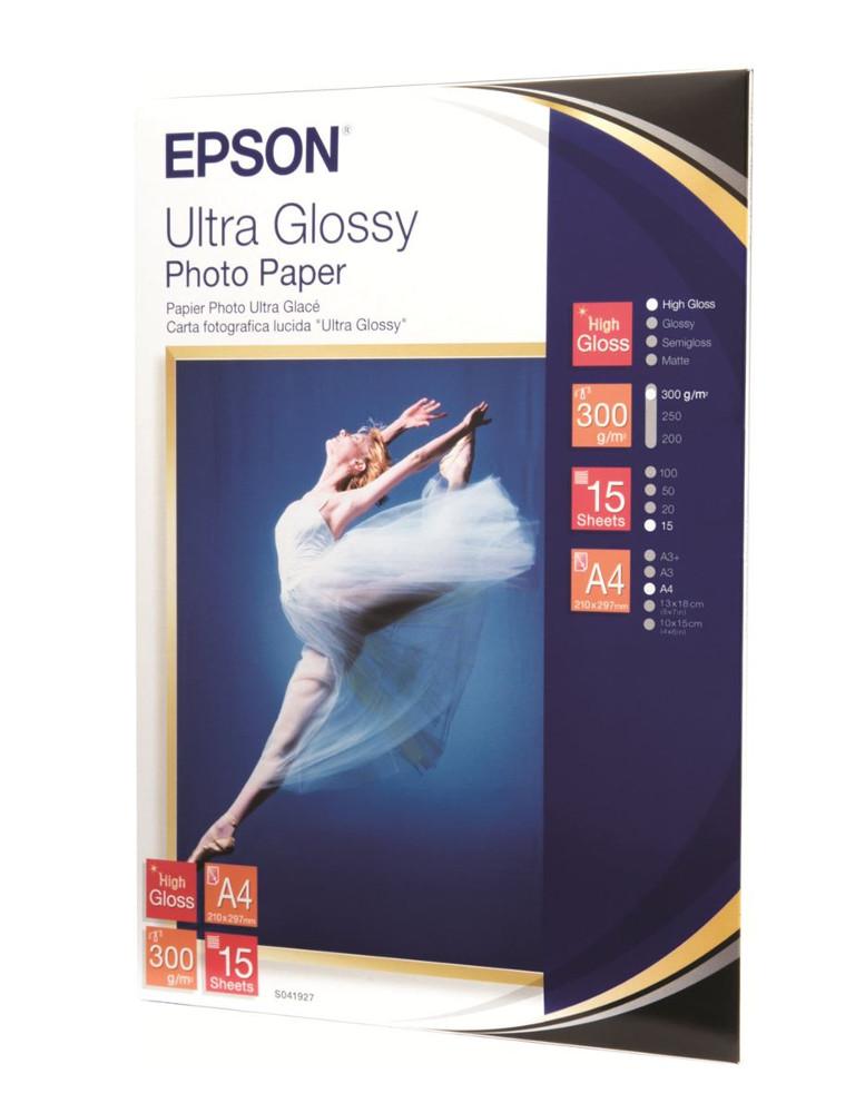 Фотобумага Epson C13S041927 Глянцевая 300g/m2 A4 15 листов<br>