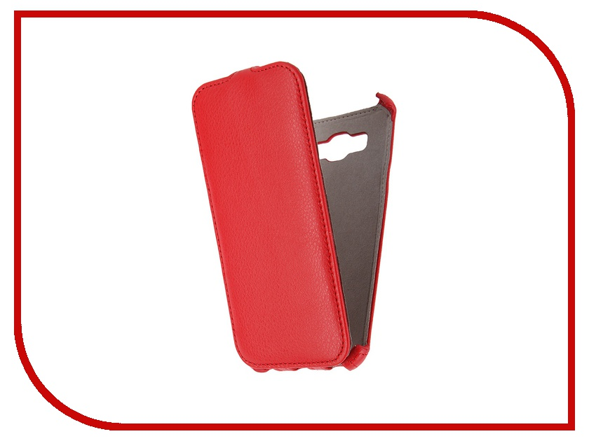 Аксессуар Чехол Samsung Galaxy A8 Activ Flip Leather Red 50787
