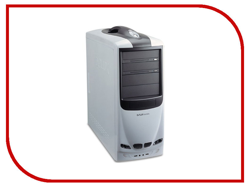 Корпус Delux Miditower MG760 450W White-Black
