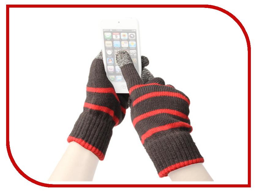Теплые перчатки для сенсорных дисплеев Fototo Линии Red<br>