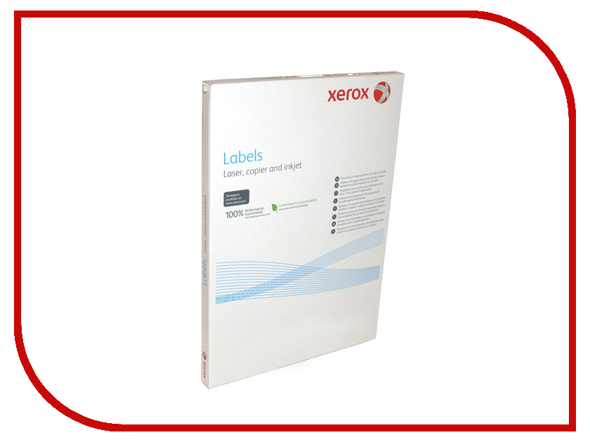 Бумага XEROX А4 003R97404 самоклеящаяся 8 шт. на лист 100 листов