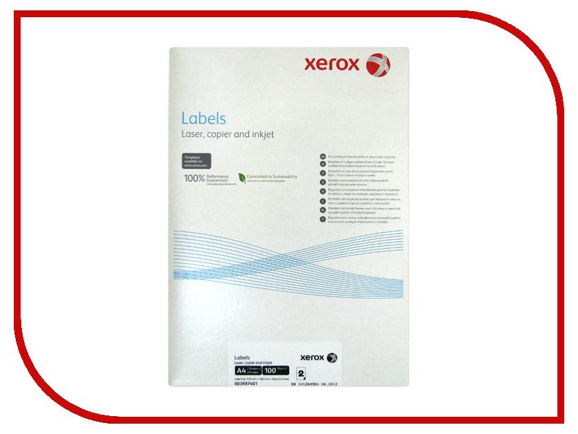 Бумага XEROX 003R97401 самоклеящаяся 2 шт. на лист 100 листов