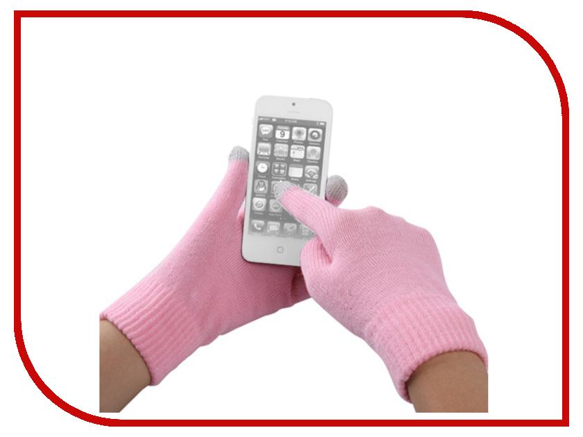 Теплые перчатки для сенсорных дисплеев Fototo Pink-Grey<br>