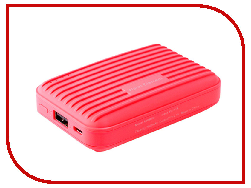 ����������� Water Element P10 mini 7500 mAh Red 52204