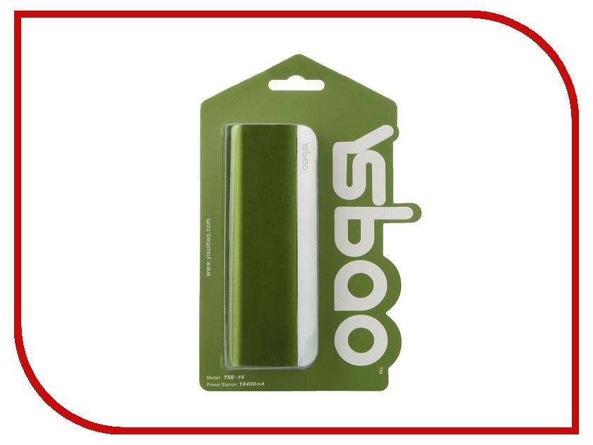 Аккумулятор Ysbao YSB-Y4 10400 mAh Green 45572