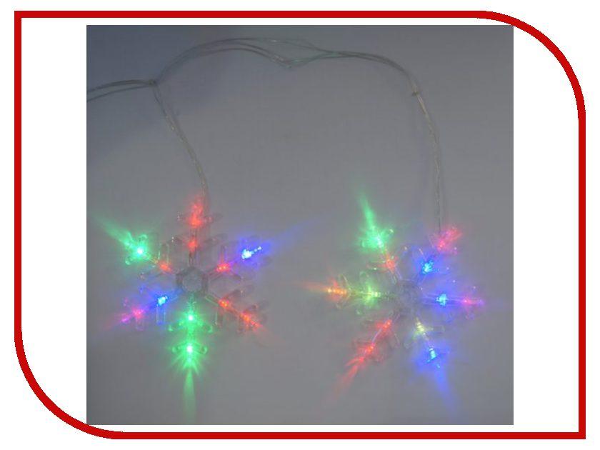 Гирлянда Новогодняя Сказка Снежинки 72 LED 971604 Multicolor