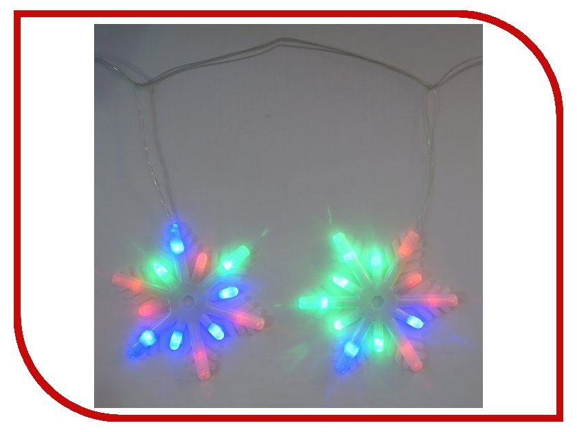 Гирлянда Новогодняя Сказка Снежинки 72 LED 971605 Blue