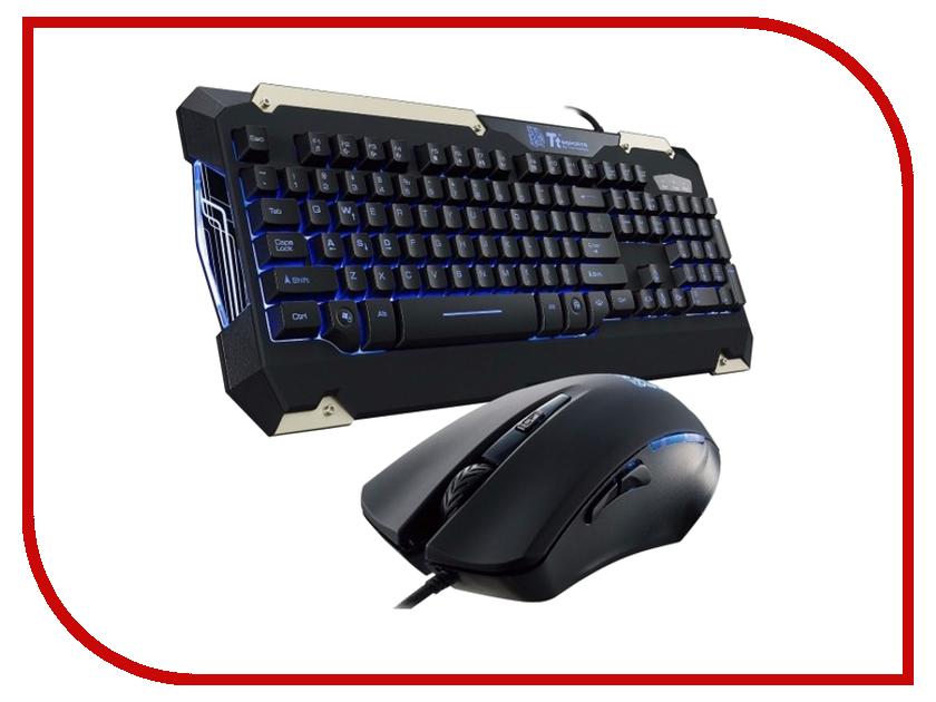 Набор Tt eSports Commander Combo KB-CMC-PLBLRU-01 гарнитура tt esports cronos ht cro008ecbl black