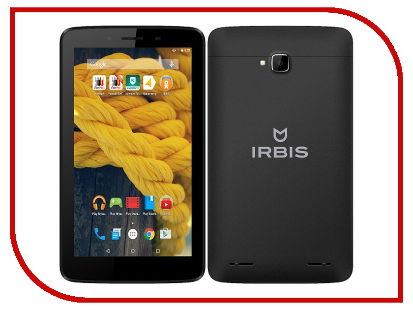 Планшет Irbis TX15 MediaTek MT8732 1.5 GHz/1024Mb/8Gb/Wi-Fi/3G/Bluetooth/Cam/7.0/1024x600/Android<br>