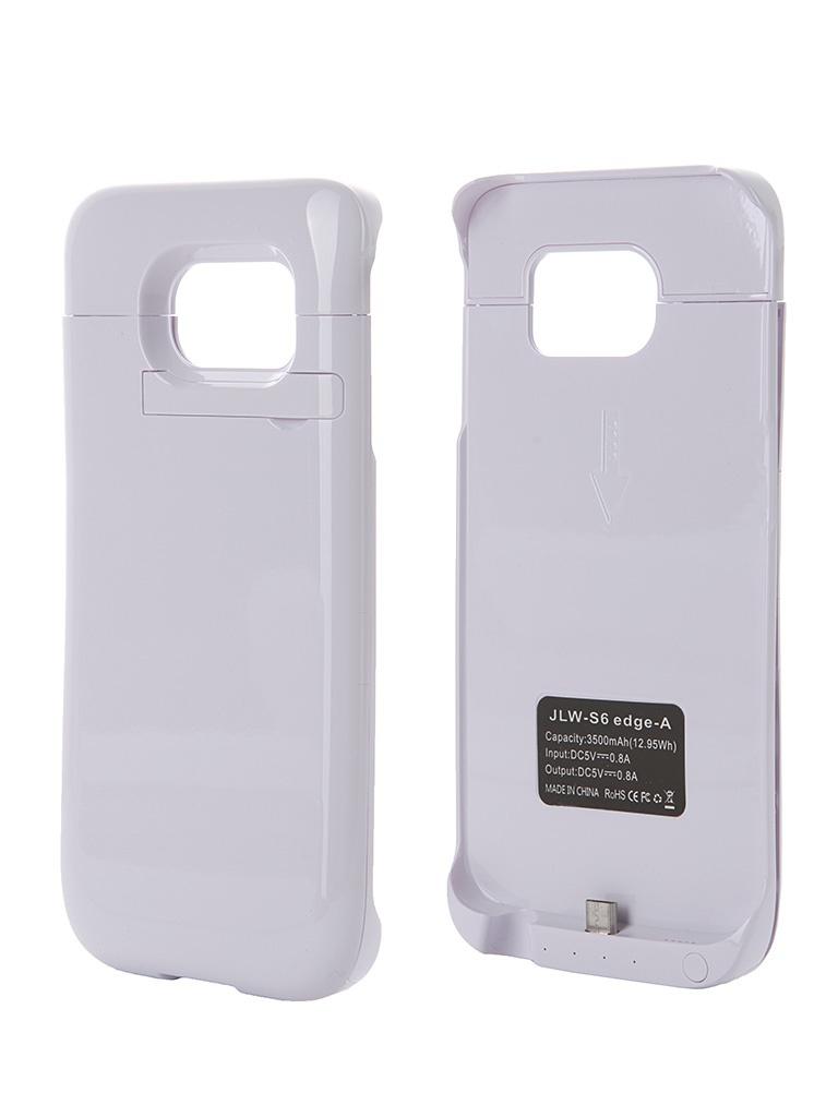 Аксессуар Чехол-аккумулятор Samsung SM-G925 Galaxy S6 Edge Aksberry S6 edge-A 3500mah White