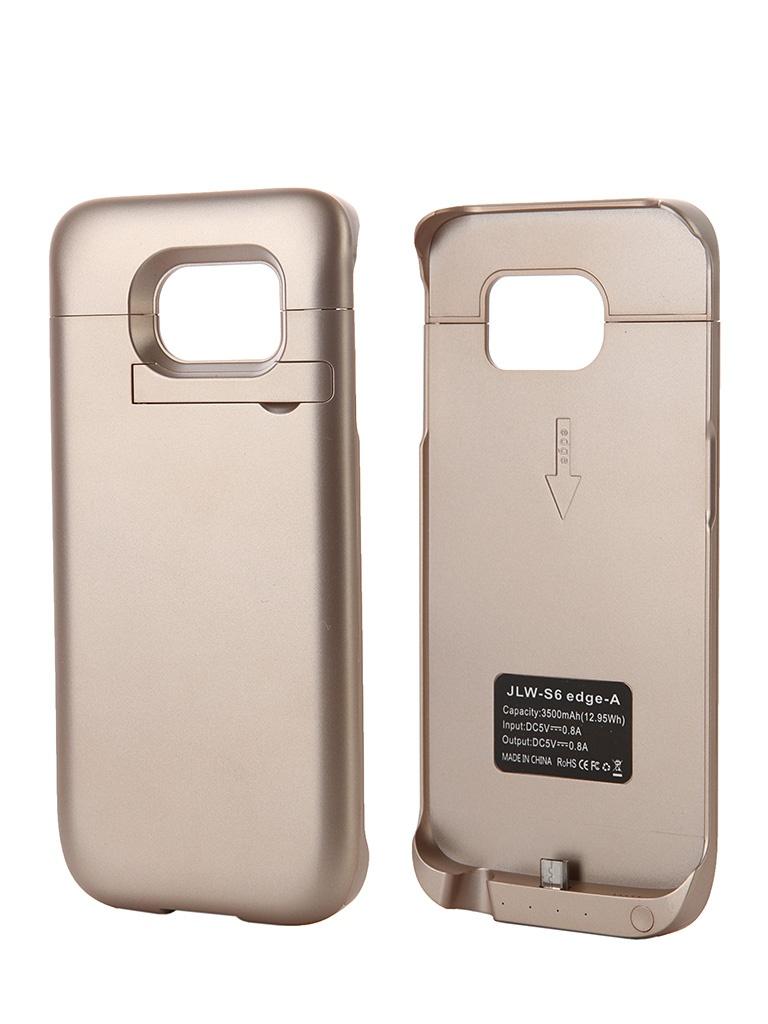 Аксессуар Чехол-аккумулятор Samsung SM-G925 Galaxy S6 Edge Aksberry S6 edge-A 3500mah Gold