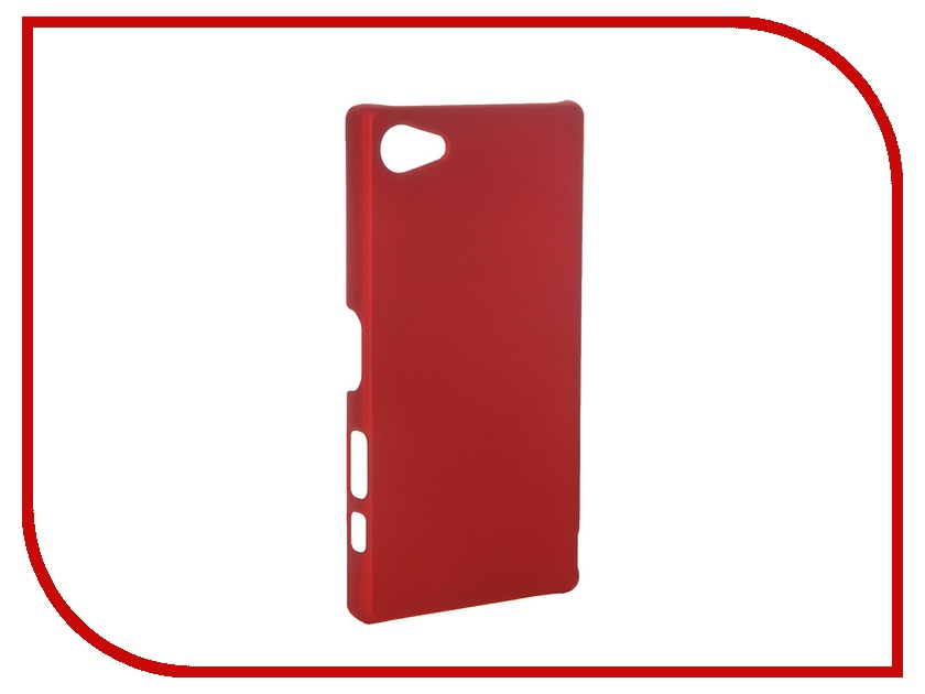 Аксессуар Чехол-накладка Sony Xperia Z5 Compact SkinBox 4People Red T-S-SXZ5C-002<br>