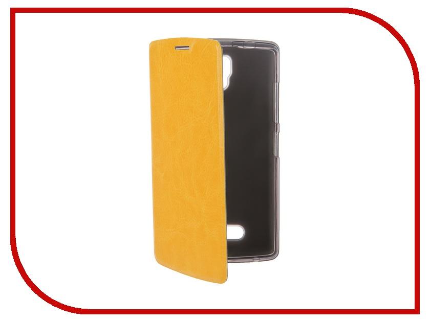 Аксессуар Чехол Lenovo A2010 SkinBox Lux Yellow T-S-LA2010-001<br>