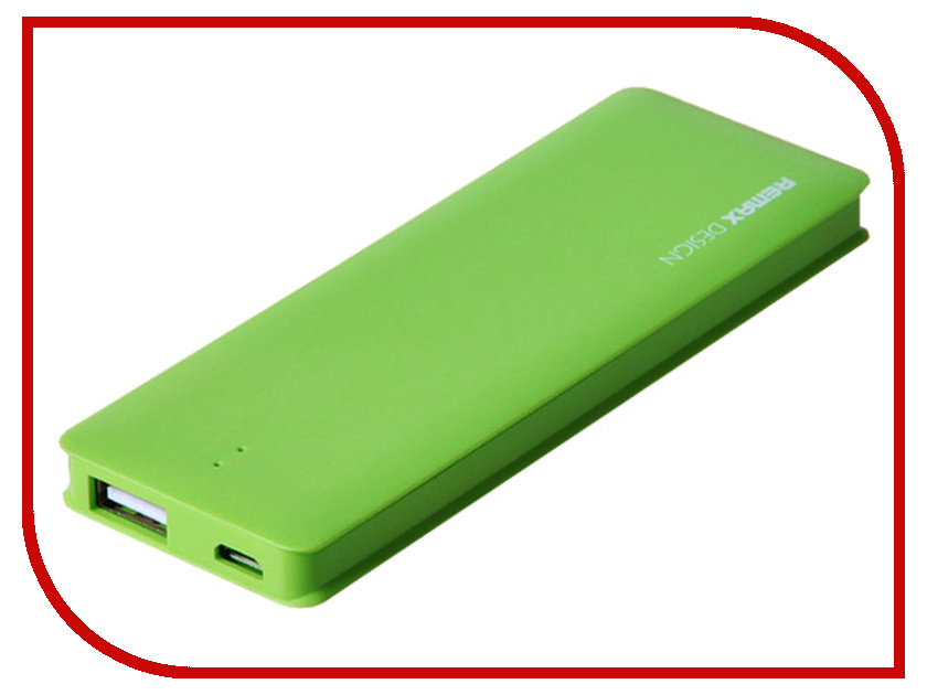 Аккумулятор Remax Power Bank Candy bar 5000 mAh Green<br>