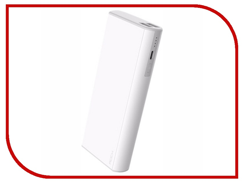 Аккумулятор ROCK Cola Power Bank 10000 mAh RMP0303 White<br>