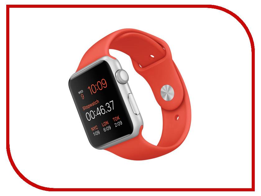 Умные часы APPLE Watch Sport 42mm with Orange Sport Band MLC42RU/A<br>