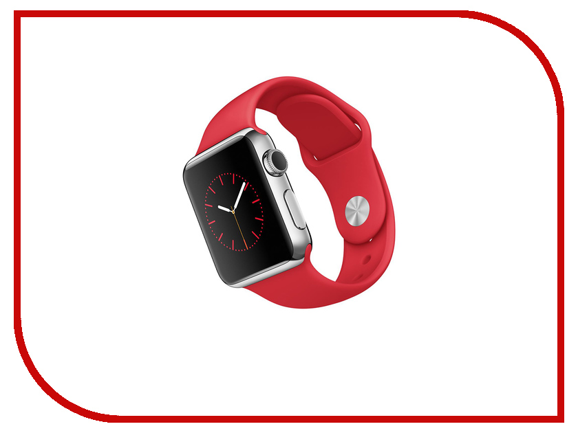 Умные часы APPLE Watch 38mm with Red Sport Band MLLD2RU/A