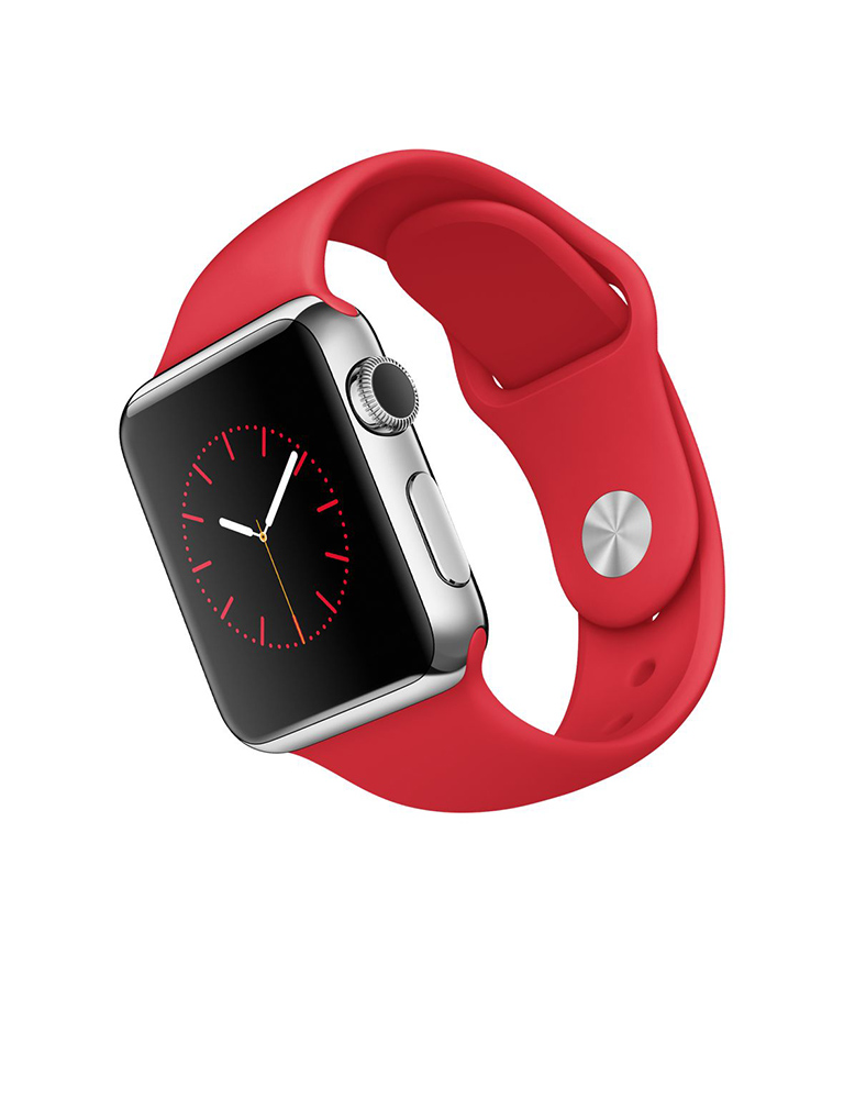 Умные часы APPLE Watch 38mm with Red Sport Band MLLD2RU/A<br>