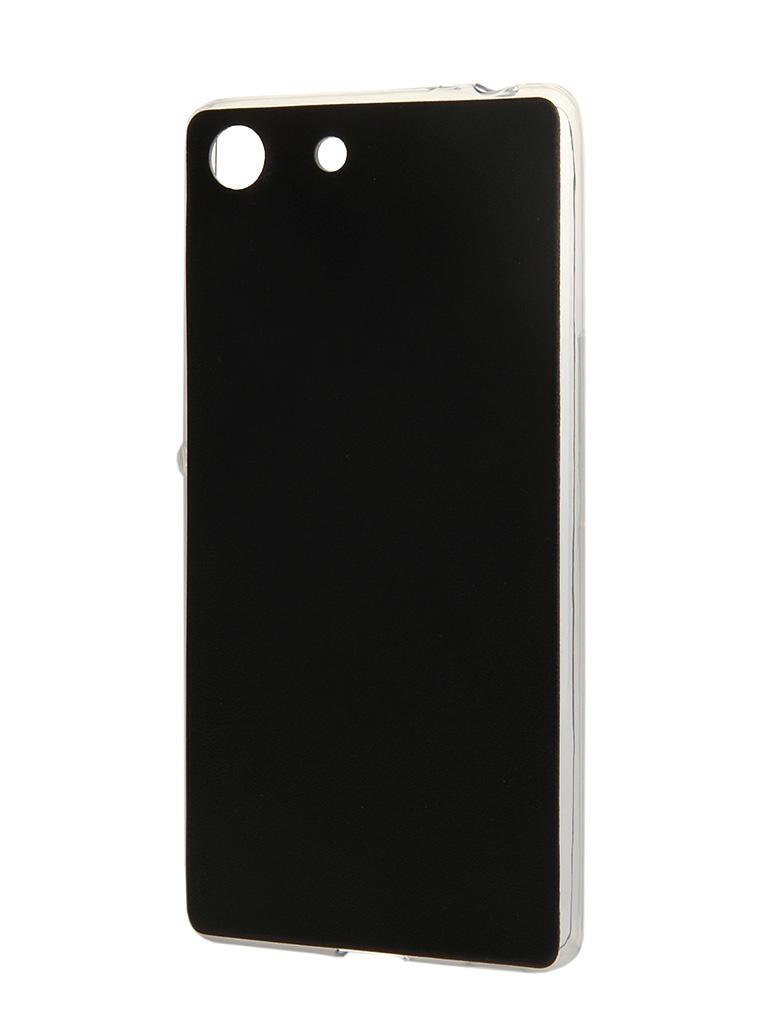 Аксессуар Чехол-накладка Sony Xperia M5 BROSCO Black M5-LEATHER-TPU-BLACK<br>