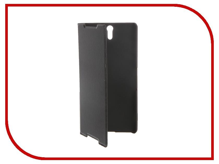 Аксессуар Чехол Sony Xperia C5 Ultra BROSCO Black C5U-BOOK-BLACK<br>