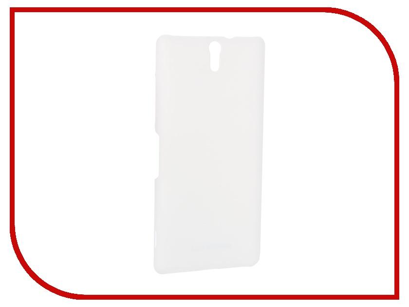 Аксессуар Чехол-накладка Sony Xperia C5 Ultra BROSCO пластиковый White C5U-SOFTTOUCH-WHITE