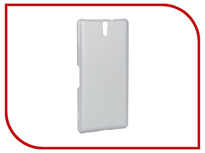 Аксессуар Чехол-накладка Sony Xperia C5 Ultra BROSCO пластиковый Silver C5U-SOFTTOUCH-SILVER<br>