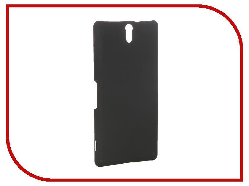 Аксессуар Чехол-накладка Sony Xperia C5 Ultra BROSCO пластиковый Black C5U-SOFTTOUCH-BLACK<br>