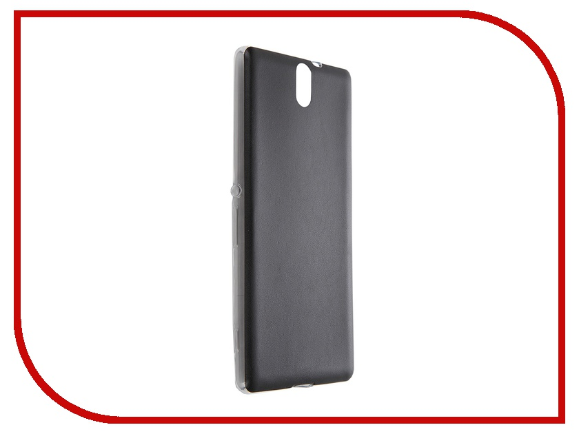Аксессуар Чехол-накладка Sony Xperia C5 Ultra BROSCO Black C5U-LEATHER-TPU-BLACK<br>