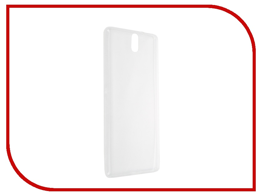 Аксессуар Чехол-накладка Sony Xperia C5 Ultra BROSCO силиконовый Transparent C5U-TPU-TRANSPARENT<br>