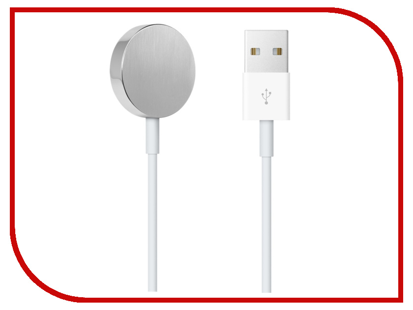 Аксессуар Кабель для зарядки APPLE Watch 38mm / 42mm Magnetic Charging Cable 0.3m MLLA2ZM/A умные часы apple watch series 3 38mm grey space with black sport band mqkv2ru a