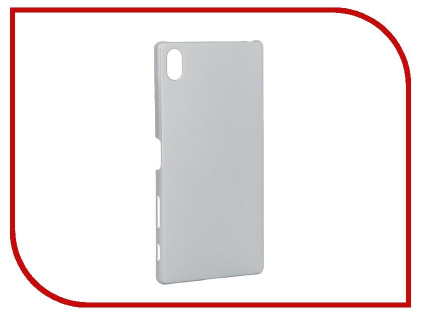 Аксессуар Чехол Sony Xperia Z5 Premium BROSCO пластиковый Silver Z5P-SOFTTOUCH-SILVER<br>
