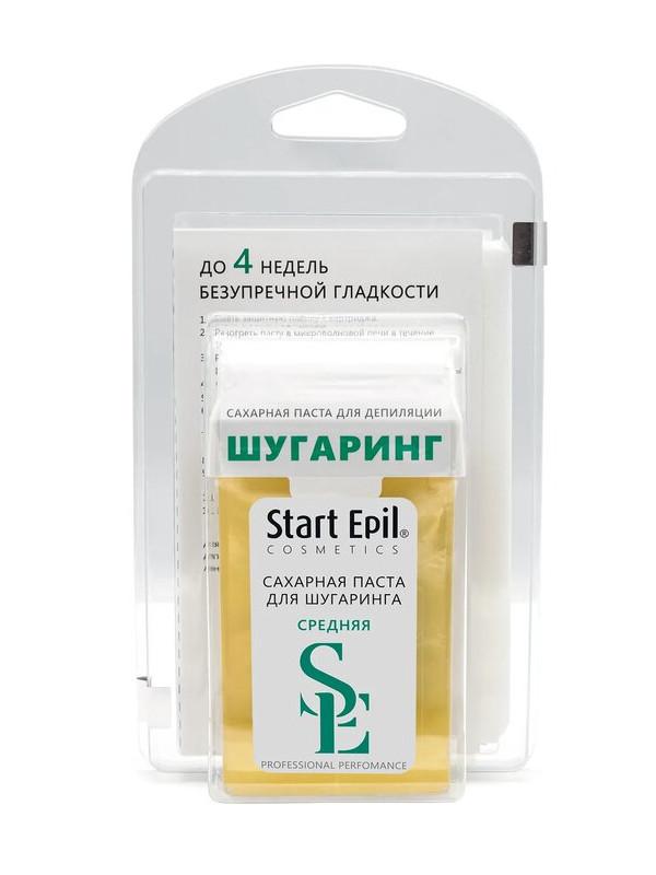 Домашний шугаринг Start Epil Набор сахарная паста в картридже Средняя 100гр + полоски для депиляции 2033