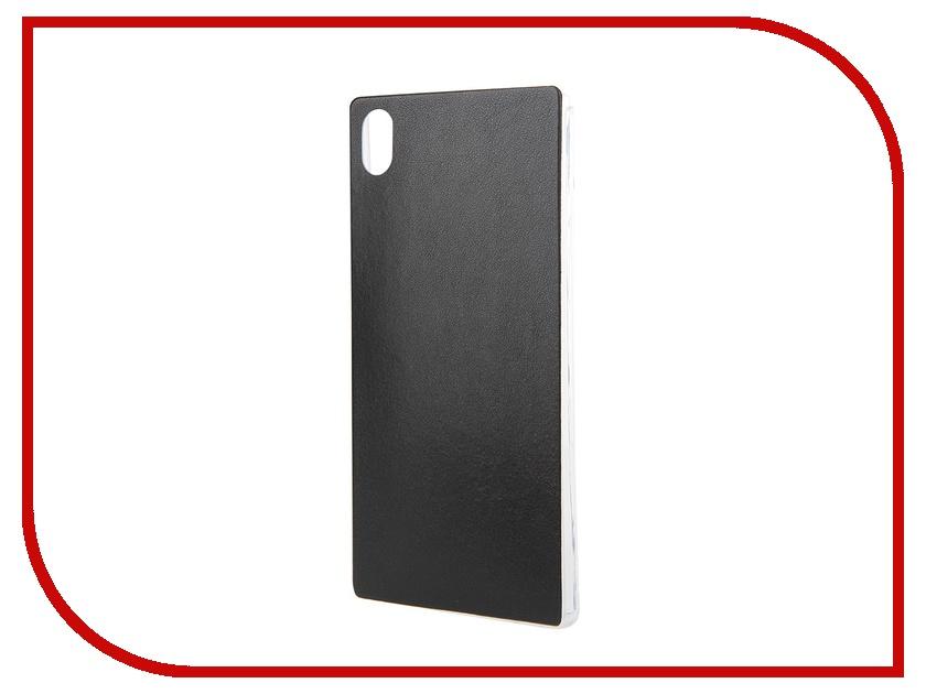 Аксессуар Чехол Sony Xperia Z5 BROSCO Black Z5-LEATHER-TPU-BLACK<br>