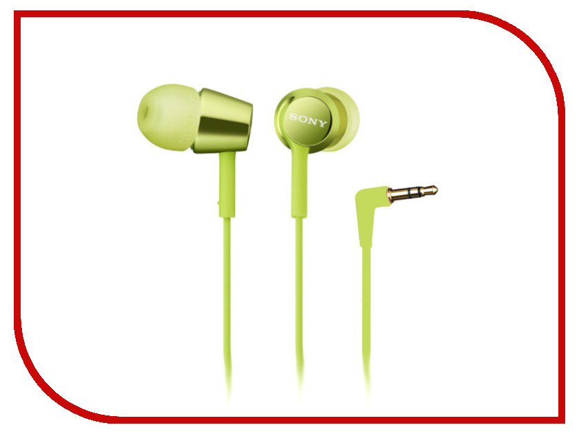 Наушники Sony MDR-EX150 Lime Green<br>