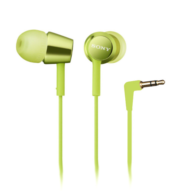Наушники Sony MDR-EX150 Lime Green sony sth30 lime