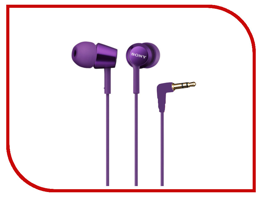 Наушники Sony MDR-EX150 Purple наушники sony mdr rf855rk