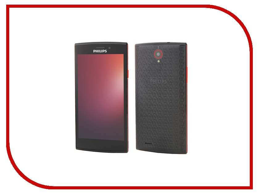 Сотовый телефон Philips S337 Black Red смартфон philips s337 8712581736538