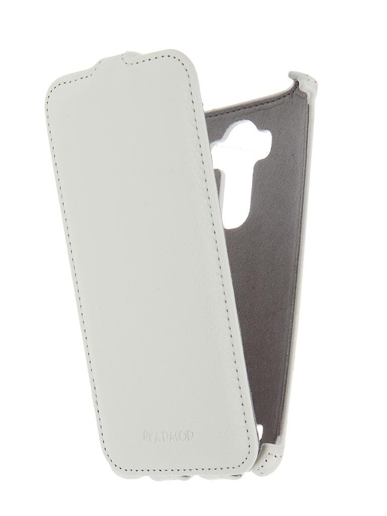 Аксессуар Чехол-книжка LG H818 G4 Armor White 7921<br>