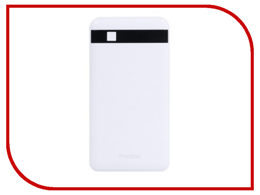 Аккумулятор Remax Proda PPP-9 Gentleman Power Bank 12000mAh White внешние аккумуляторы remax power bank 5000 ma remax capsule rpl 22 rose gold