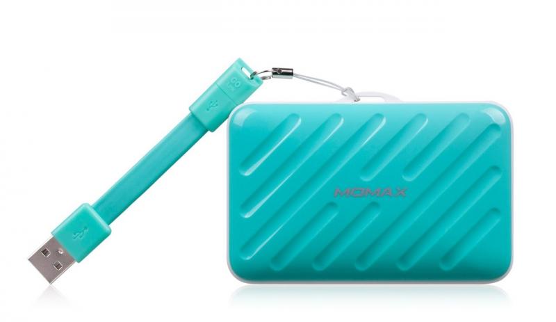 Аккумулятор MOMAX iPower Go Buddy 10000mAh IP40 Blue