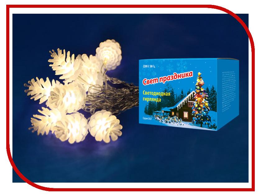 Гирлянда Uniel ULD-S0280-020/DTA IP20 Pine Cones Warm White цена 2017