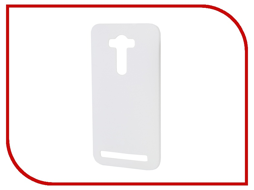 Аксессуар Чехол-накладка ASUS Zenfone 2 Laser ZE550KL 5.5 inch Pulsar Clipcase PC Soft-Touch White PCC0143<br>