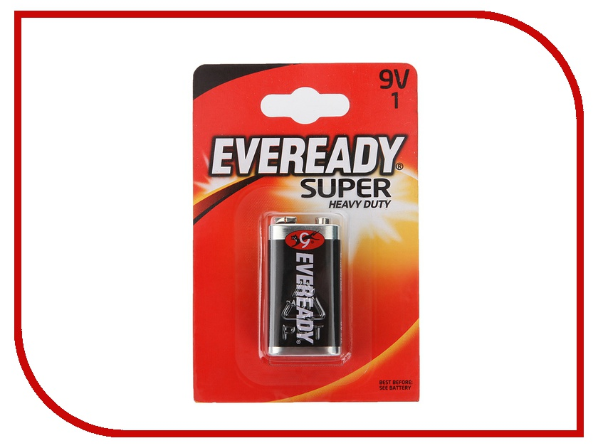 Батарейка КРОНА Energizer Eveready Super 6F22 (1 штука) элементы питания liberty project элемент питания energizer carbon zinc eveready aa 4шт 637081 e301012800